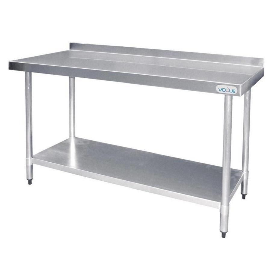 Werktafel met Spatrand RVS   5 Formaten