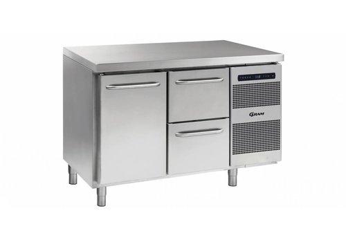 Gram Gram Gastro refrigerated workbench 1 door 2 drawers 345 liters