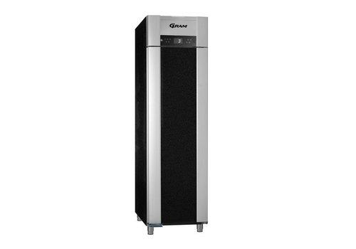 Gram Tiefkühltür aus Edelstahl, schwarz 465 Liter