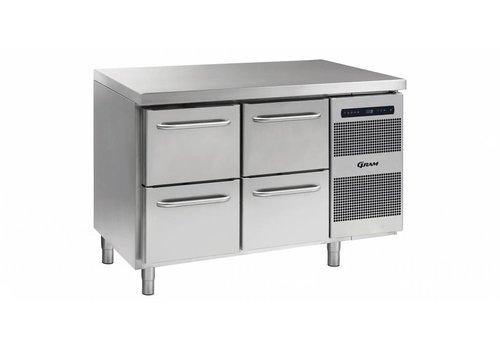 Gram Gram Gastro Kühlwerkbank 2 x 2 Schubladen 345 Liter