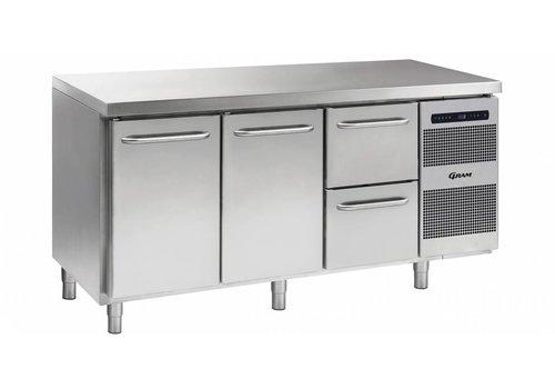 Gram Gram Gastro Kühlwerkbank 2 Türen | 2 Schubladen 506 Liter