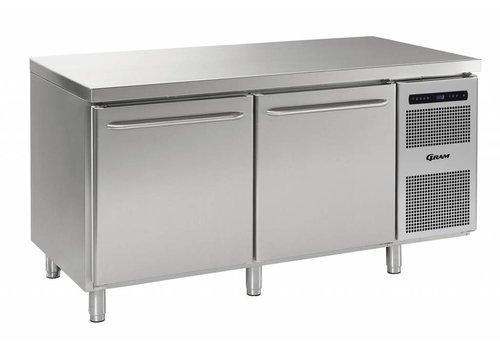 Gram Gram Gastro refrigerated workbench 2 doors 586 liters