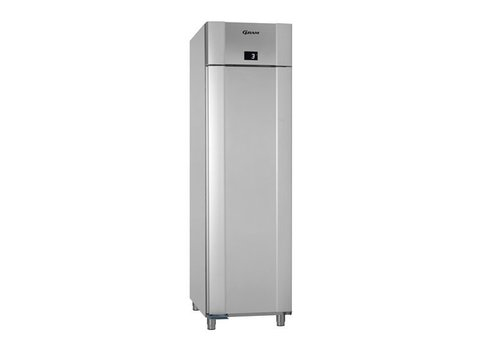 Gram Stainless steel / vario silver depth cooling single door | 465 liters