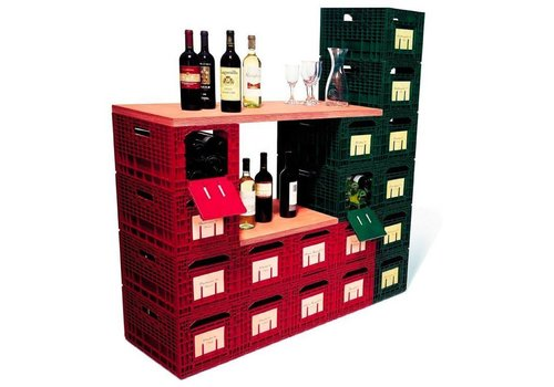 HorecaTraders Wine storage box Wouter | Red