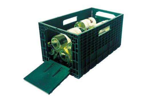 HorecaTraders Wein Aufbewahrungsbox Clement   grün