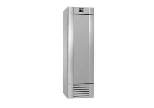 Gram Gram Edelstahl Kühlschrank eintürig MIDI 407 L