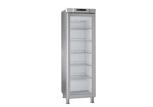 Gram Stehender Kühlschrank Edelstahl Glastür   346 Liter