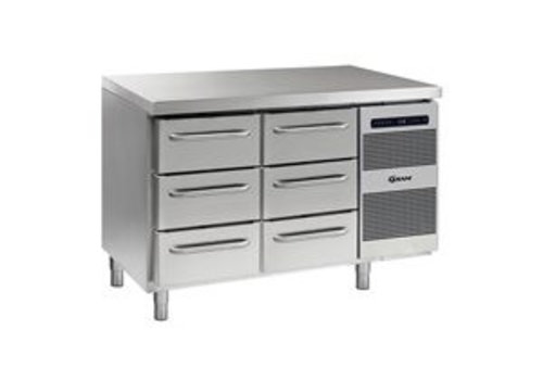 Gram Stainless Steel Cooling Bench 2 x 3 drawers | 345 liters