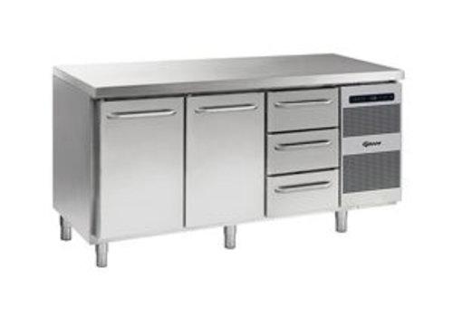 Gram Coole Werkbank Edelstahl 2 Türen und 3 Schubladen 506 Liter