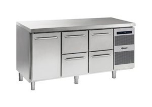 Gram Cool workbench stainless steel 1 door and 4 drawers 506 liters