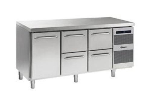 Gram Coole Werkbank aus Edelstahl 1 Tür und 4 Schubladen 506 Liter