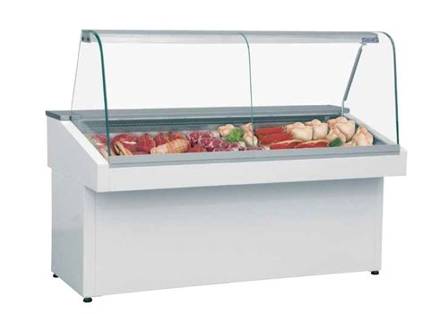 Combisteel Butcher Showcase | Curved Glass | 118 x 150 x 76.5 cm