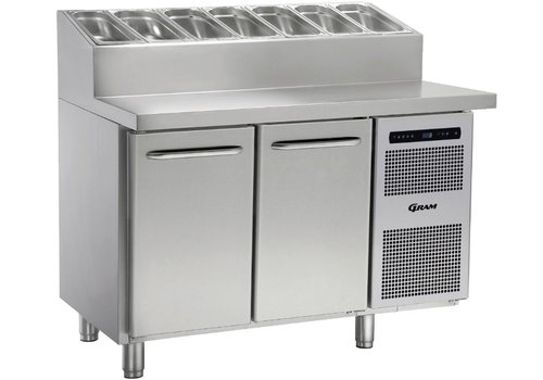 Gram Gram stainless steel refrigerated workbench   2 doors and 6x1 / 3 GN   345liter
