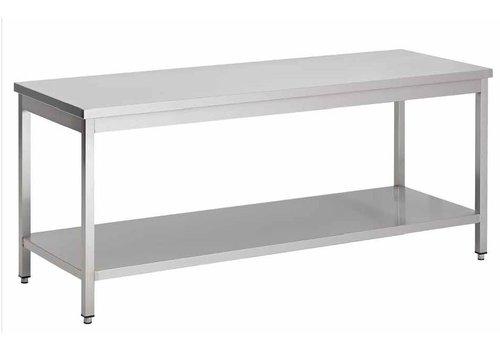 HorecaTraders Edelstahl-Arbeitstisch demontierbar 100 x 85 x 60 cm