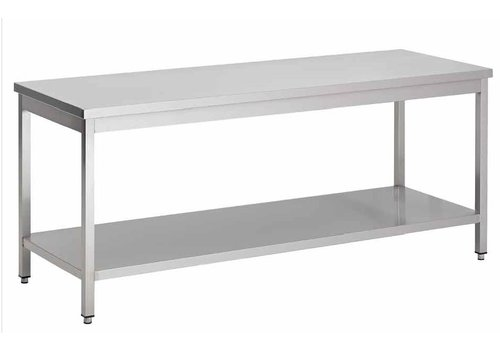 Combisteel Edelstahl-Arbeitstisch mit Zwischenboden | 7 Formate