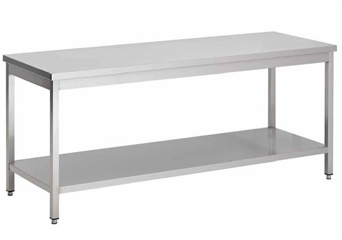 Combisteel Stainless steel work table with bottom | 8 formats
