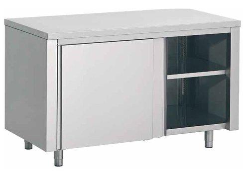 Combisteel Inox Werkkast met Schuifdeur | 100x70x(H)85cm