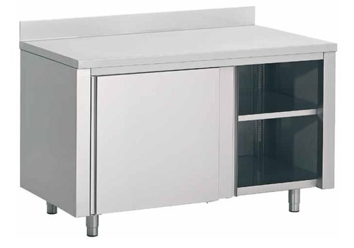 Combisteel Stainless Steel Cupboard with Splash Rand | 140x70x (H) 85cm