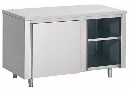 Combisteel Stainless Steel Cupboard with a Between Tools | 160x70x (H) 85cm