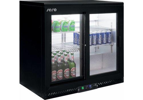 Saro Bar Koelkast Zwart met schuifdeuren - 2 Jaar Garantie