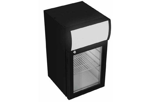 Combisteel Softdrinks Kühlschrank Schwarz mit Leucht 21 Liter