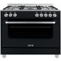 Multifunctional Cooker Gas Oven   5 Pits - Black