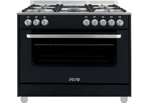 Saro Multifunctionele Kooktoestel Gas Oven | 5 Pits - Zwart
