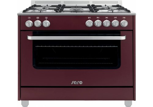 Saro Multifunctional Cooker Gas Oven | 5 Pits - Bordeaux