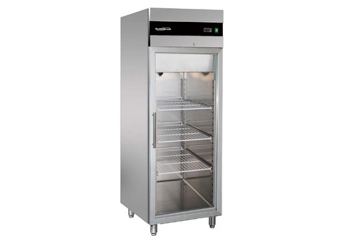 Combisteel Freezer with glass door stainless steel 597 liter 74x83x201 cm (WxDxH)