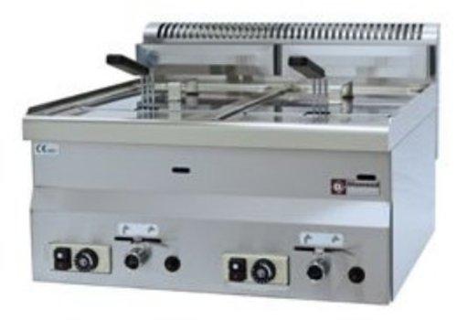 Diamond Gas Fryer | 2x8 Liter | Tischplatte | 13,6 Kw