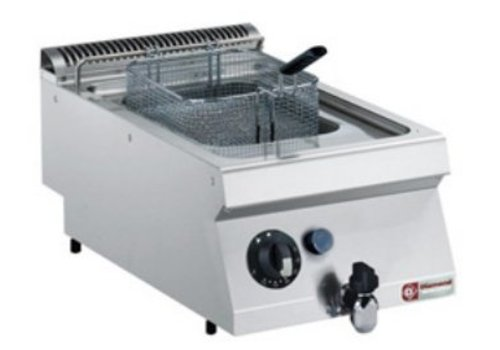 Diamond Friteuse Gas Stainless Steel | 7 liters | With cold zone | 120 ° C and 190 ° C