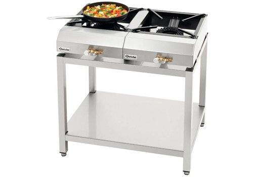 Bartscher Gas cooking table set GTKS20 (2 x 1,058,703 + chassis)