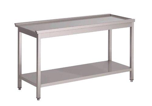 Gastro-M Stainless steel feeding table for sliding dishwasher