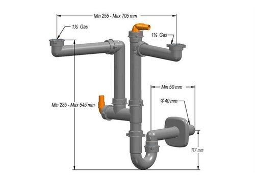 HorecaTraders Sifon for SIF-102 sinks