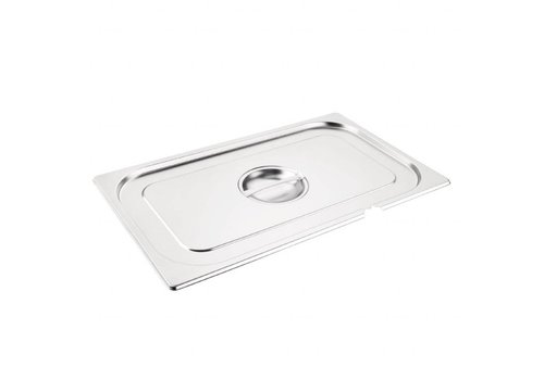 Vogue Stainless steel lid GN 1/1 with spoon recess