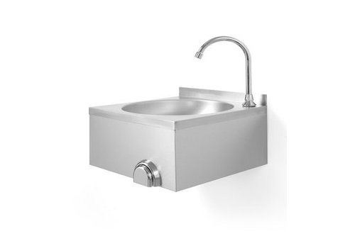 Hendi Stainless Steel Sink | Knee operation | 400 x 400 x (H) 450 mm