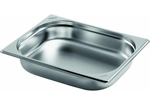 Saro Gastronorm- Pfannen aus Edelstahl GN 1/2 | 2 Jahre Garantie