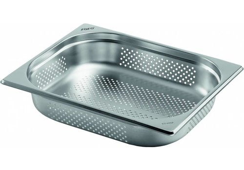 Saro Gastronorm containers stainless steel perfor. GN 1/2   2 Year Warranty
