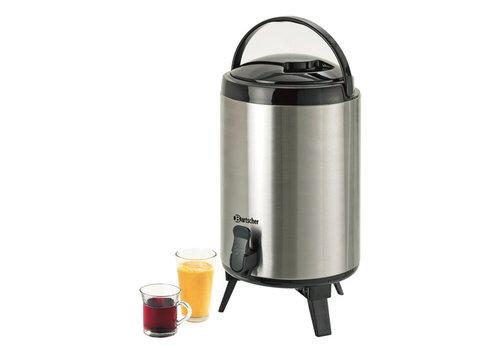 Bartscher Stainless steel hot water dispenser with tap 9 liter
