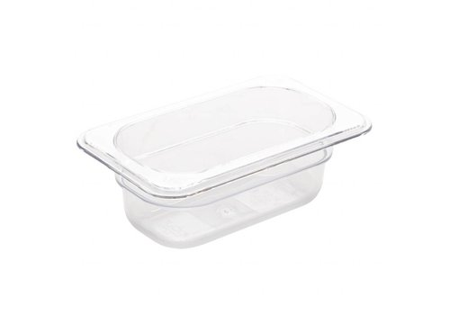Vogue Plastic GN containers 1/9 | 2 Formats - White