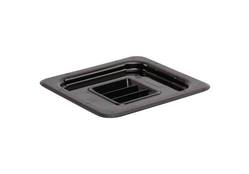 Vogue Plastic GN 1/6 lid black