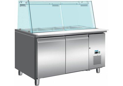 Saro Kühler Tisch mit Glasplatte