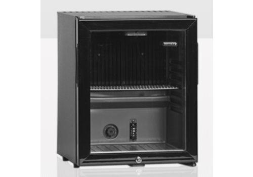 Tefcold TM32G TEFCOLD Schwarz Mini Cooler mit Glastür