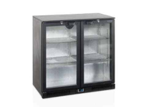 Tefcold Tefcold black Backbar cooler with 2 glass doors