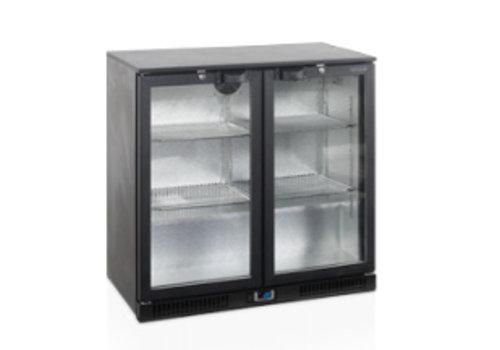 Tefcold TEFCOLD schwarz Backbar-Kühler mit zwei Glastüren