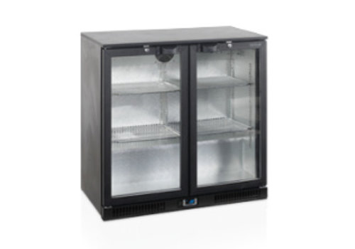 Tefcold Tefcold black backbar cooler with 2 doors