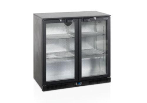 Tefcold TEFCOLD schwarz Backbar-Kühler mit zwei Türen