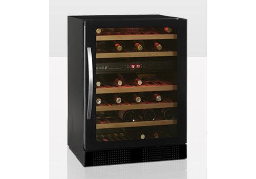 Tefcold Weinkühler Schwarz mit Glastür TFW160-2F