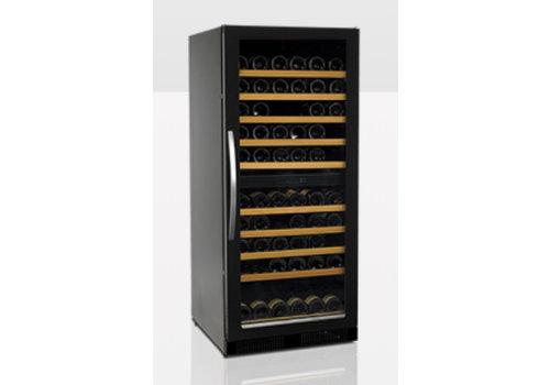 Tefcold Weinkühler Schwarz mit Glastür TFW265-2F