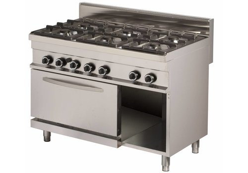 Combisteel Gas stove 6 burners with gas oven